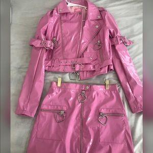 Sugar thrillz pink leather set